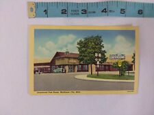 Vintage Greyhound Post House in Mackinaw City Michigan Postcard