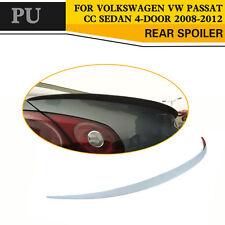 Unpainted PU Rear Boot Spoiler Trunk Wing Lip Fit for Volkswagen VW Passat CC