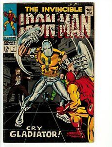 Iron Man  # 7 Nov.1968 Gladiator!  Silver-Age Marvel Fine
