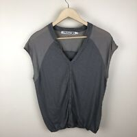 Michael Stars Women's Gray Original V Neck Tee Top One Size