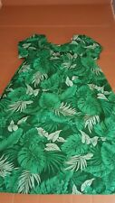 Vintage Royal Creations dress mumu green floral Womens Large