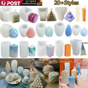 3D Candle Mould Geometric Shape DIY Perfume Soap Candle Making Wax Silicone Mold