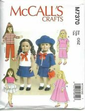 "McCall's SEWING PATTERN Crafts  Retro Doll Clothes 18""- M7370-OSZ"