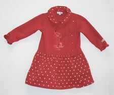 Le Top Dancing Dachshund Puppy Dog Hearts Polka Dot Red LS Dress, 2T