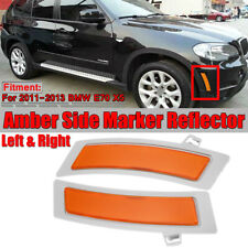 For 2011-2013 BMW E70 X5 Pair Amber Front Bumper Reflector Side Marker Lights
