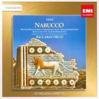 Verdi: Nabucco Highlights Riccardo Muti (2011) 10-track CD album NEW/SEALED