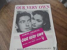 Vintage Original Sheet Music 1950 notre propre Ann Blyth Farley Granger Evans
