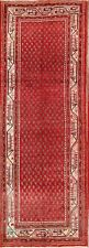 One-of-a-Kind Vintage Boteh Design Botemir Hand-Knotted 4x10 Runner Rug
