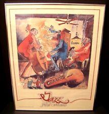 LEO MEIERSDORFF JAZZ NEW ORLEANS FRAMED LITHOGRAPH 1978 CUNNINGHAM ENTERPRISES