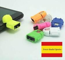 MICRO USB OTG ROBOT ADAPTADOR PARA TABLETS Y SMARTPHONES COLORES