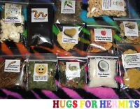 Hermit Crab Food Variety QUALITY, COMPLETE, NUTRITION PACKAGE Wild Picked OOAK!!