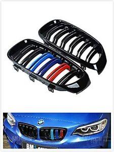 2012-18 Black Front Kidney Grille M Color For BMW F30 F31 328i 335i 3 Series 4DR