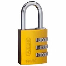 ABUS 30mm -Combination Padlocks-Padlock Hasp,Vending, Locker,Gym-YELLOW-14530YEL