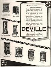 ▬► PUBLICITE ADVERTISING AD Poêle DEVILLE 1926