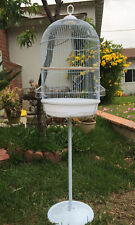 """57"""" Round Bird Cage With Stand For Budgies Finches Canary Cockatiels Parakeets"""