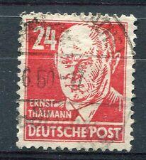 ALLEMAGNE DDR, timbre CELEBRITE, E. THALMANN, oblitéré