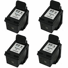 4x HP 92 C9362WN Black 60% More Remanufactured Ink Cartridges DeskJet 5420