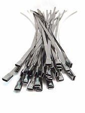100 STAINLESS STEEL ROLLER BALL CABLE TIES 4.6mm x 360mm