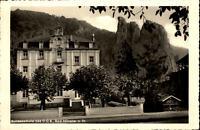 Bad Münster am Stein  Postkarte 1957 gelaufen Partie an der Bundesschule des DGB