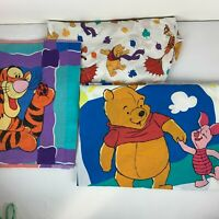 Vintage Winnie the Pooh, Piglet, and Tigger Twin Size Sheet Set Made in USA