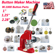 Badge Button Maker Making Machine +1000 Die Mold Punch Press Circle Cutter Diy