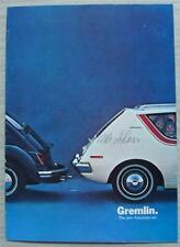 AMERICAN MOTORS AMC GREMLIN USA Sales Brochure 1970 #70-324-569-01