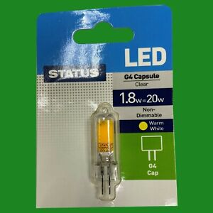 10x 1.8W (=20W) G4 12V Capsule LED Low Energy Light Bulb, Halogen Replacement
