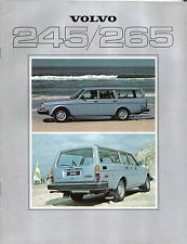 Volvo 245 265 Estate DL GL GLE 1978-79 Original UK Sales Brochure No. 6583-79