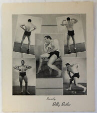 1950's physique promo ~ BILLY BUTLER body building