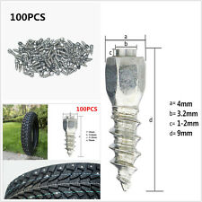 9mm Screw in tyre Stud for Car/Truck/ATV Carbide tip with Steel Body 100pcs