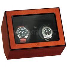 Original Beco Uhrenbeweger Atlantic Lichtsensorsteuerung für 2 Uhren Rosenholz