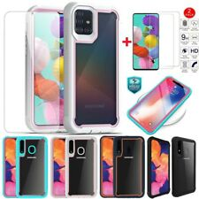 For Samsung Galaxy A51/A71 A20s/A20/A10e Shockproof Phone Case+HD Tempered Glass