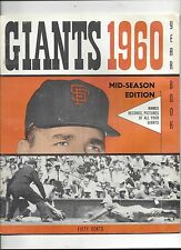 1960 San Francisco Giants Yearbook (mid season) excellent (see scan)