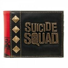 OFFICIAL SUICIDE SQUAD METAL SYMBOL WITH HARLEY QUINN PRINT WALLET (NEW)