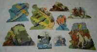 Lot of Vintage Military Paper Cut-Outs Toys - WWII , Copyright 1940 Merrill Pub.