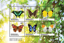 Micronesia- 2014 Butterflies on Stamps - sheetlet of 6 MNH