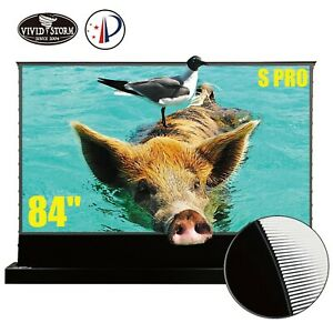 "VIVIDSTORM S PRO 84"" Electric Tension Floor UST ALR Projection Screen Motorized"