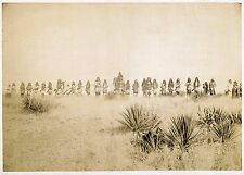 "Native American Indian Apache Chief Geronimo & Warriors 1886 7x5"" Reprint Photo"