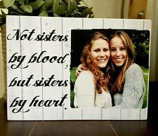 """7x5"""" Personalised Photo & Quote Wood Block Friendship Best Friend Present Gift"""