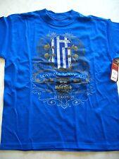 HRC Hard Rock Cafe Mykonos Blue Flag Tee Shirt Youth Size 158-164 Boys