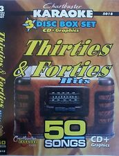 CHARTBUSTER KARAOKE CDG  NOSTALGA 30s & 40s (5018)  3 DISC  50 wartime/pub songs