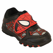 Boys Marvels Spiderman Baugh Black And Red Trainers With Touch Fastening