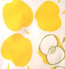 Oil Cloth Yardage Fruit Bty Tablecloth Craft Fabric Yellow Apples Teachers Fall