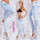 New Sexy Womens Jeans Size 10 12 14 2 4 6 8 XS S M L XL Skinny Capri Denim Pants