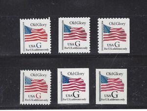"US Scott # 2881v, 2883, 2884, 2885, 2886,& 2887 ""G"" rate MNH Booklet Singles"