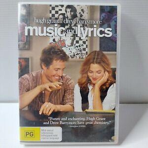 Music And Lyrics (DVD, 2007) Region 4 Hugh Grant Drew Barrymore