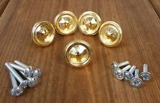 Ersatz Montur Messing Möbelknopf Blende Zubehör Gold Silber Möbelgriff neu ZU7
