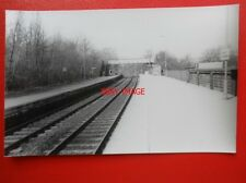 PHOTO  YORKS BURLEY IN WHARFEDALE RAILWAY STATION 23/3/82