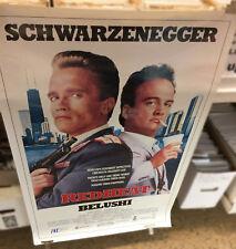 RED HEAT rare video store promo POSTER Arnold Schwarzenegger Jim Belushi 1988
