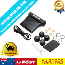 TPMS Wireless SOLAR Powered Car Tyre Pressure Monitor System Track Road Kits BB